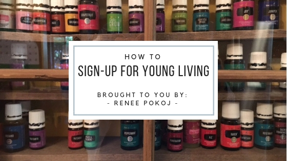 Sign up for young living with organic stepping stones
